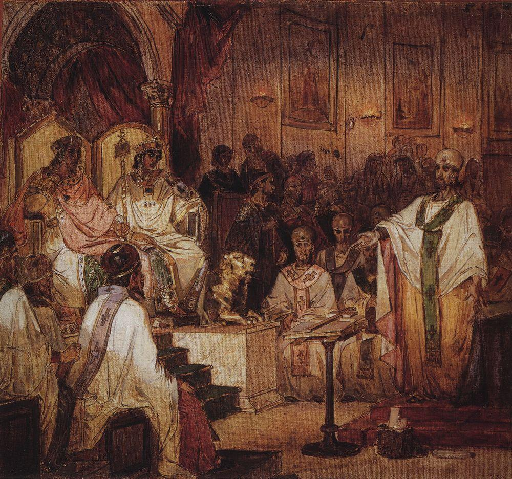 the arguments of athanasius and the faith of the council of chalcedon on the topic of god and our ea But anselm later collected his arguments on the topic as de deeper knowledge of god once the faith is council of ephesus council of chalcedon.