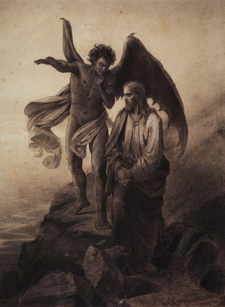 В каком виде приступил искуситель к Иисусу Христу Jesus-and-devil